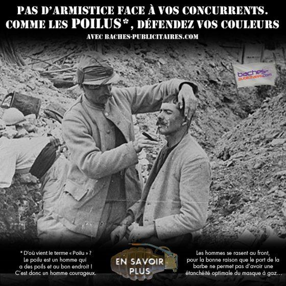 La Petite Histoire Du 11 Novembre Les Poilus Baches