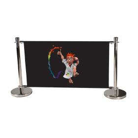 Barrière publicitaire standard 100 cm, jeux complet