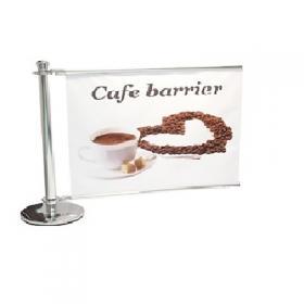 Barrière pub standard 150 cm, jeux complémentaire  & impression - Vulcain