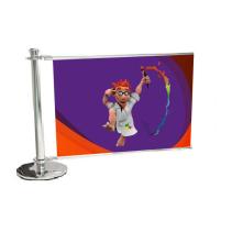 Barrière pub standard 200 cm, jeux complémentaire  & impression - Vulcain